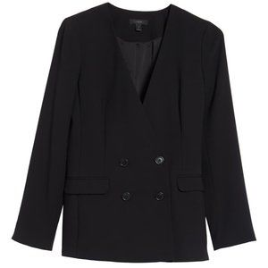 J.Crew Black Double Breasted French Girl Blazer
